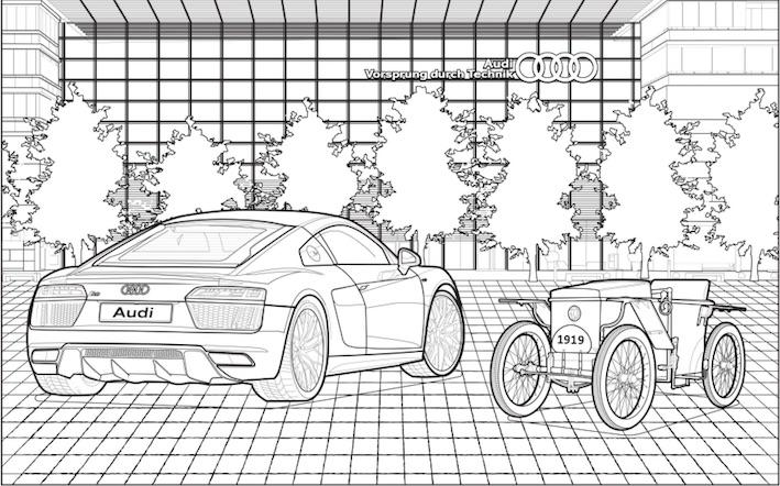 El libro para colorear de Audi apoya la estadía en casa