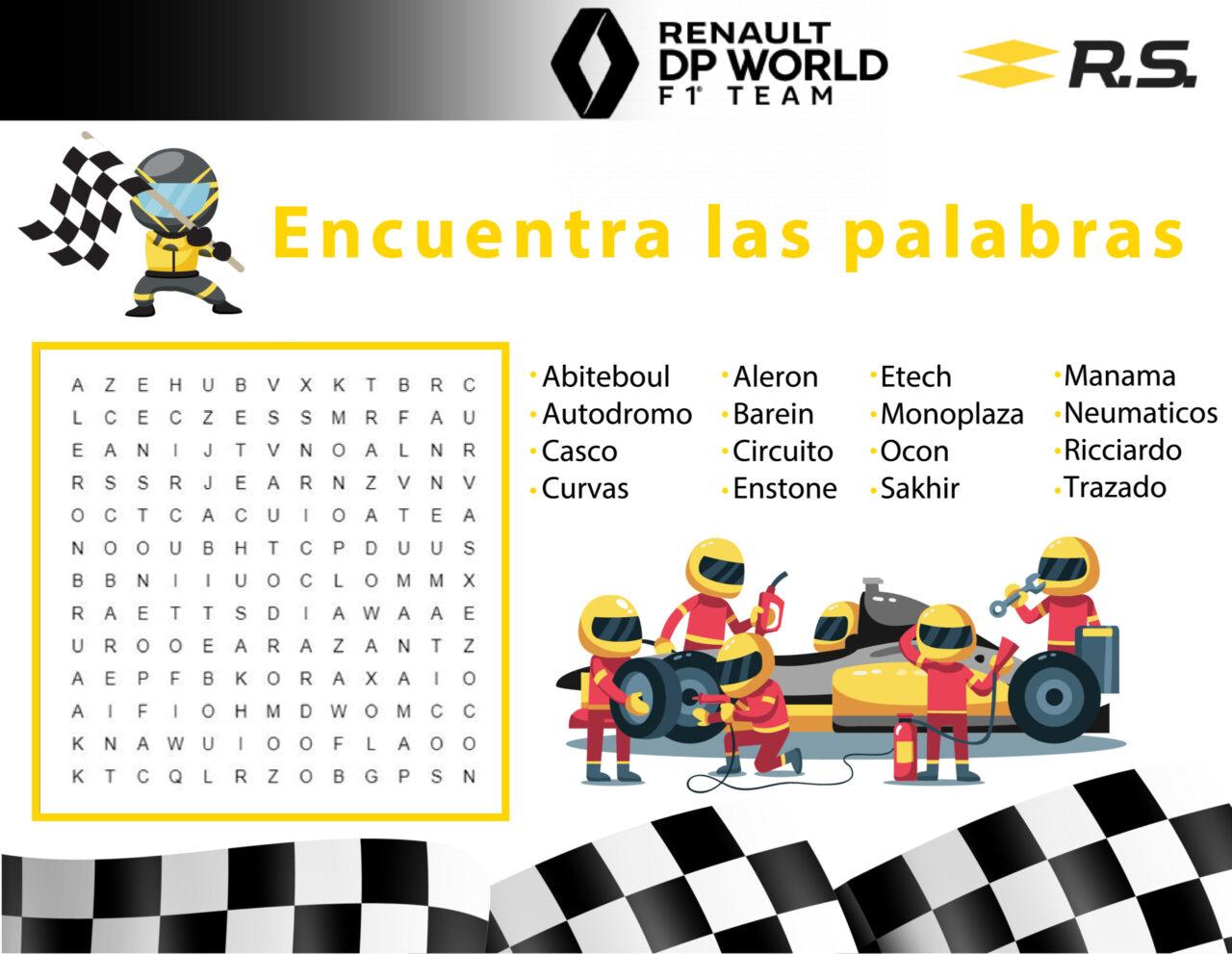 Renault RS - Sopa de letras