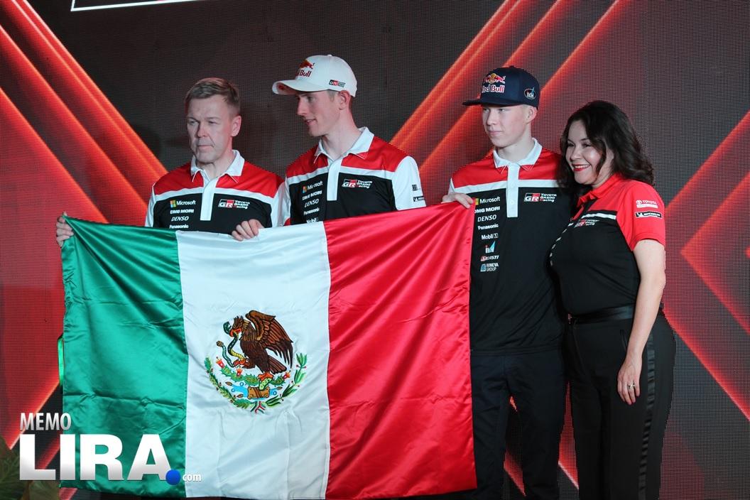 Toyota calentando motores para el Rally México