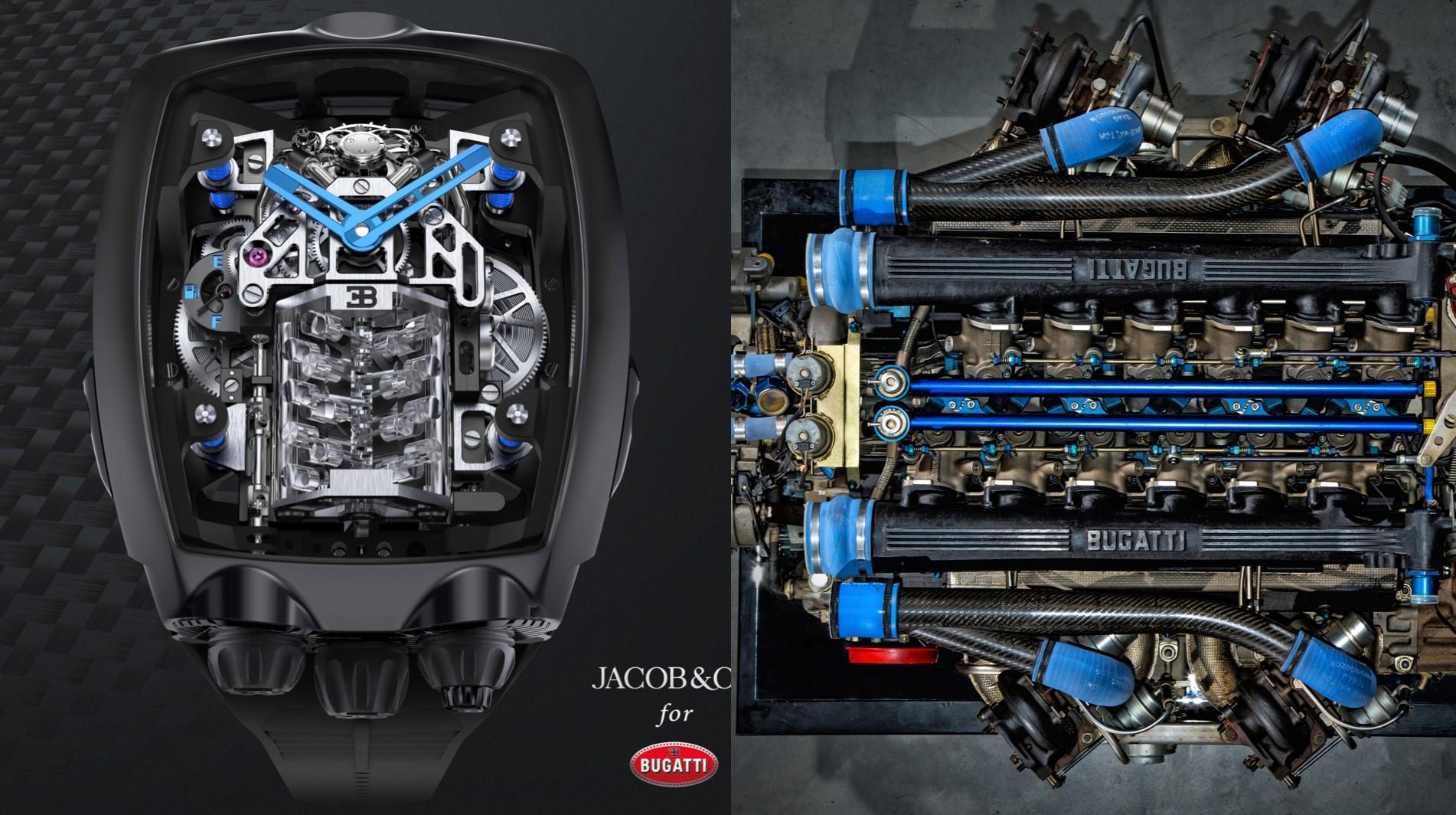 El reloj inspirado en el motor de Bugatti