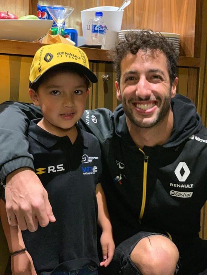 Mateo Garcia - Mateo Driver - futuro del automovilismo mexicano-Autos Memo Lira-Daniel Ricciardo