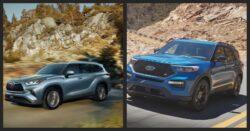 Toyota Highlander versus Ford Explorer