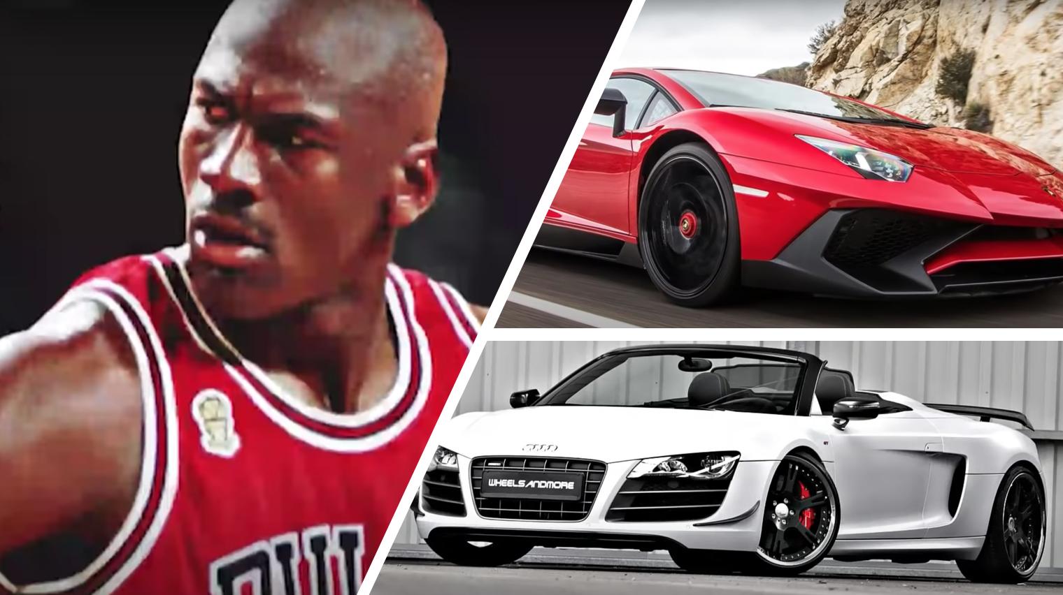 Esta es la increíble colección de autos de Michael Jordan
