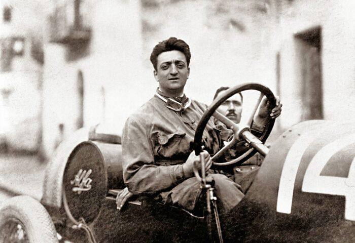 Enzo Ferrari at the Targa Florio 1920