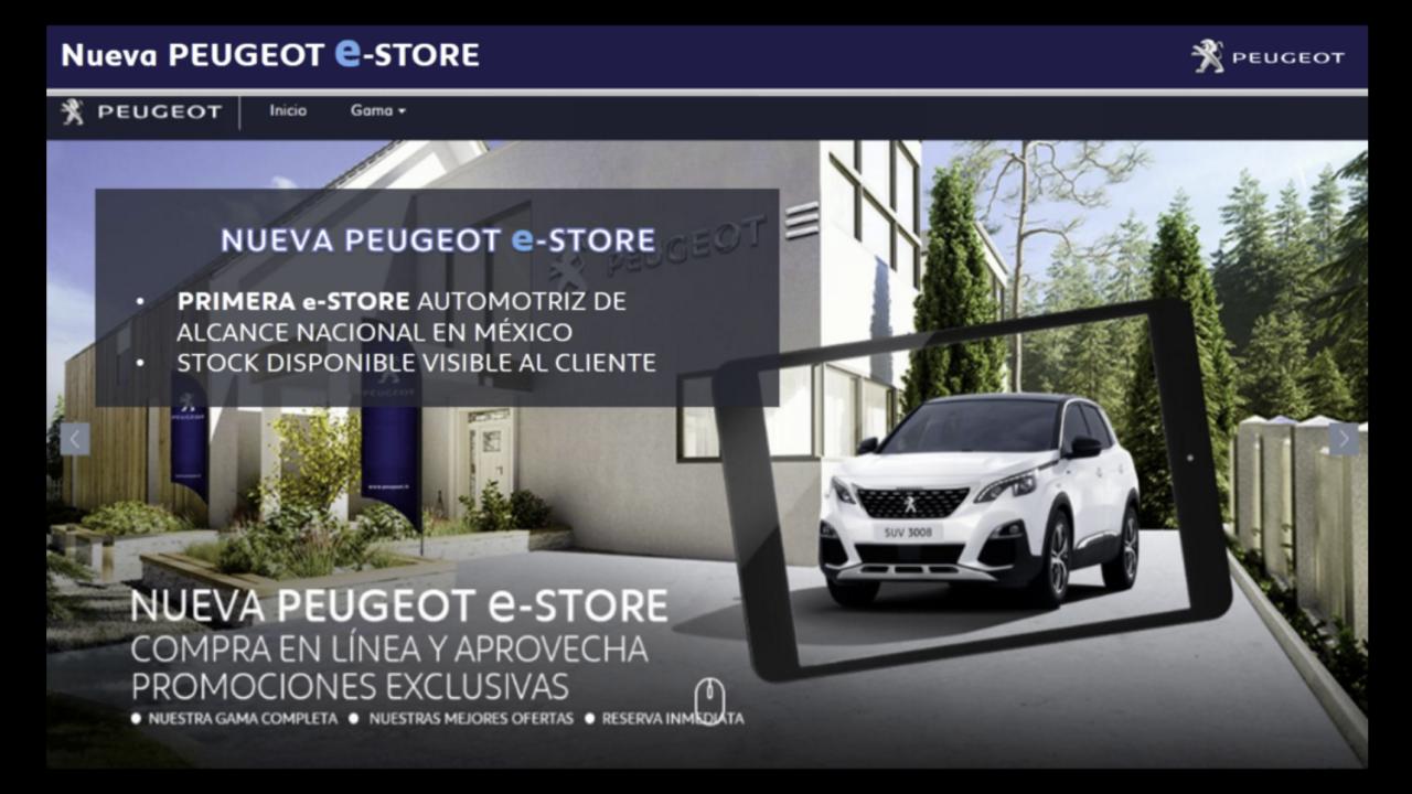 Peugeot México lanza nueva tienda en línea