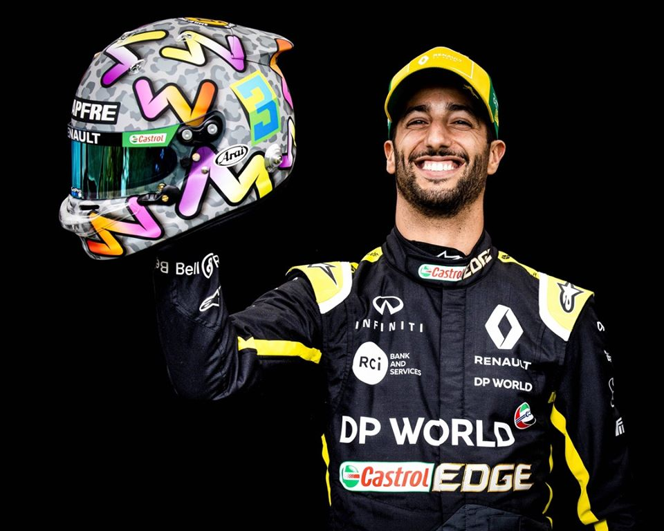 Ricciardo en contra de la parrilla invertida