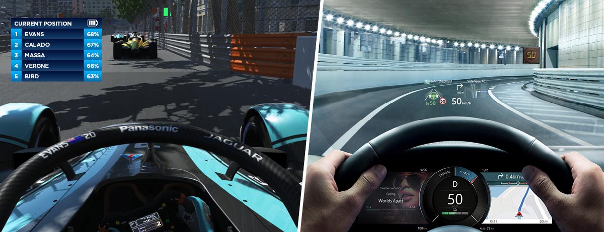 Visión digital, tecnología de Jaguar que va a las pistas
