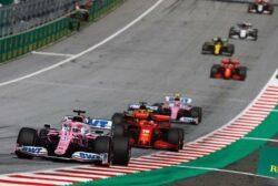 Sergio Pérez acaricia el podio en Austria