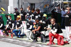 Piloto de F1 protestaron contra el racismo en Austria