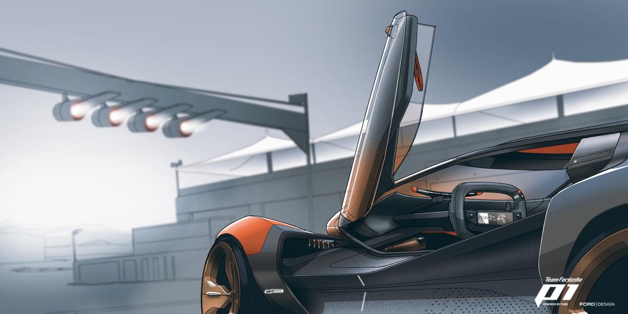 Team Fordzilla P1, el primer auto de carreras de Ford en el mundo virtual
