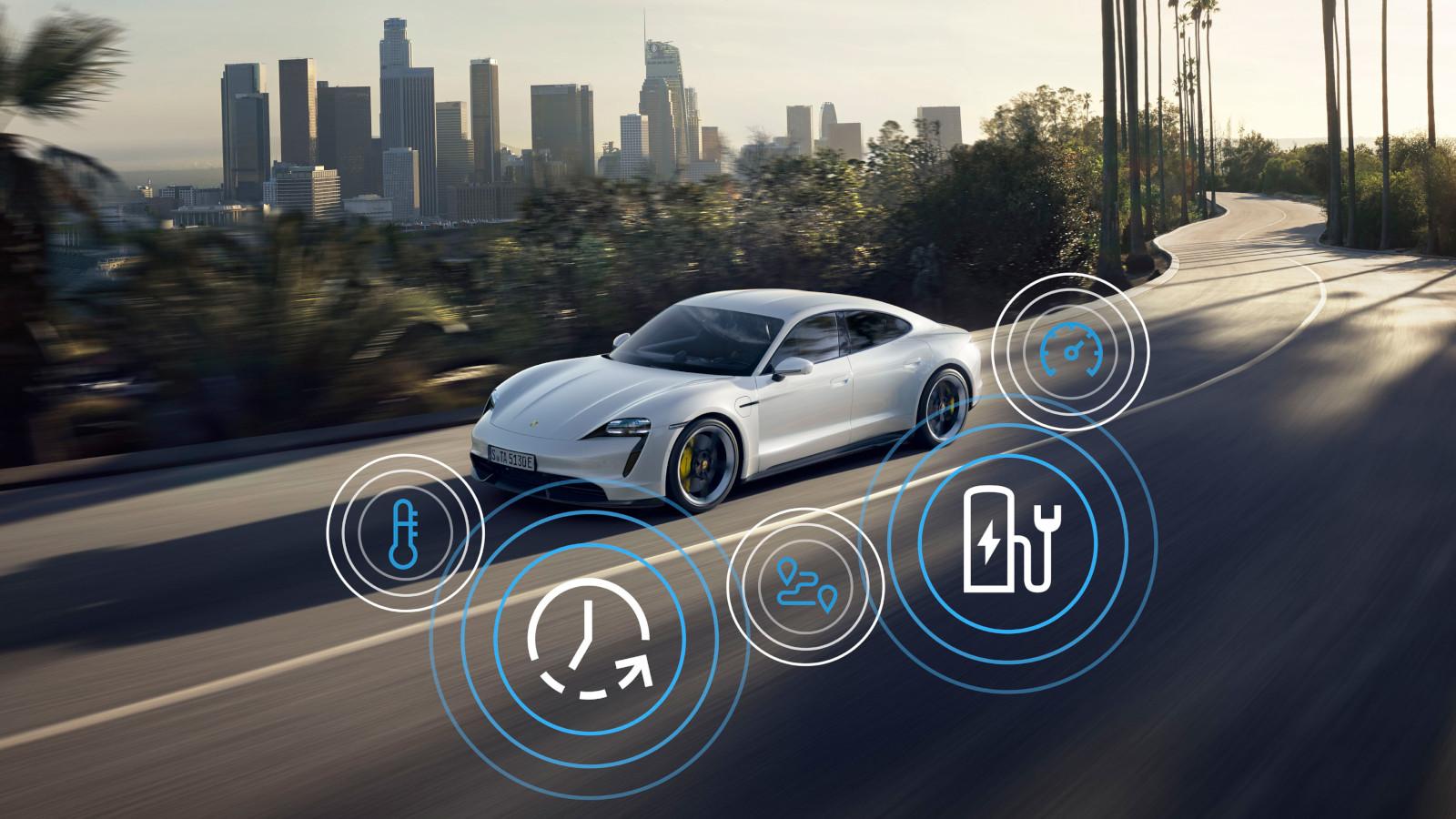 Nuevas funciones para Porsche Taycan 2021