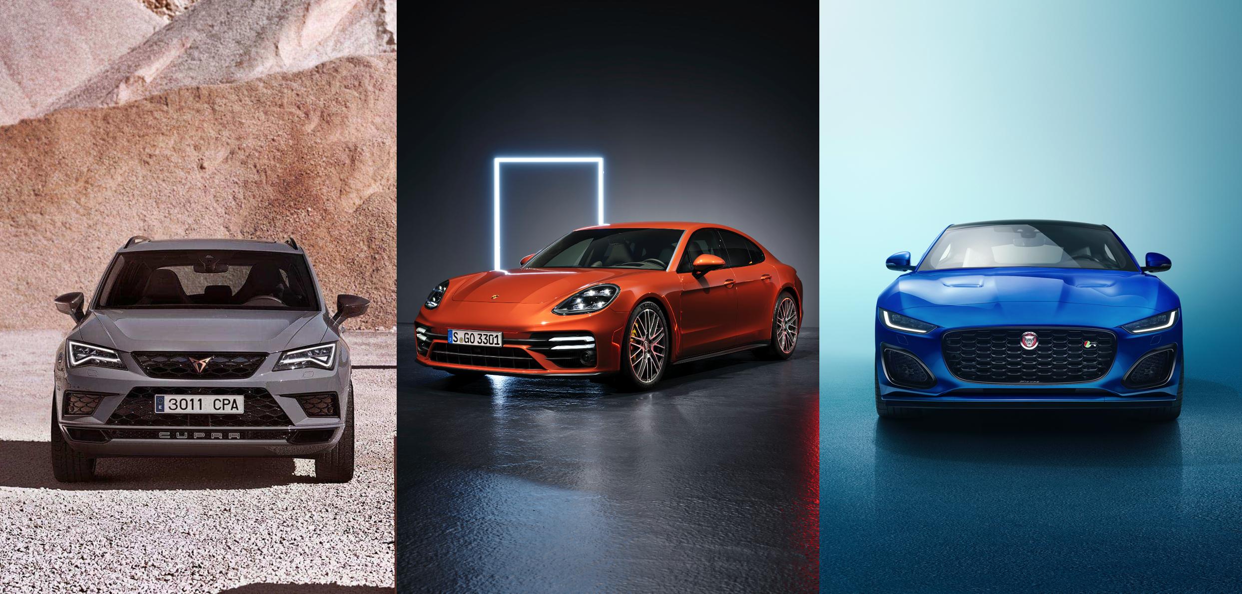 Tecnologías en CUPRA Ateca LE, Porsche Panamera y Jaguar F-Type