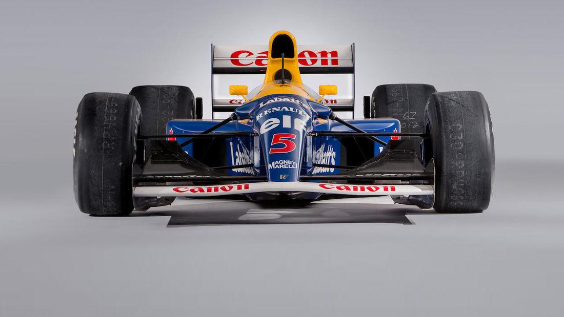 Vettel compró el Williams FW14B de Mansell