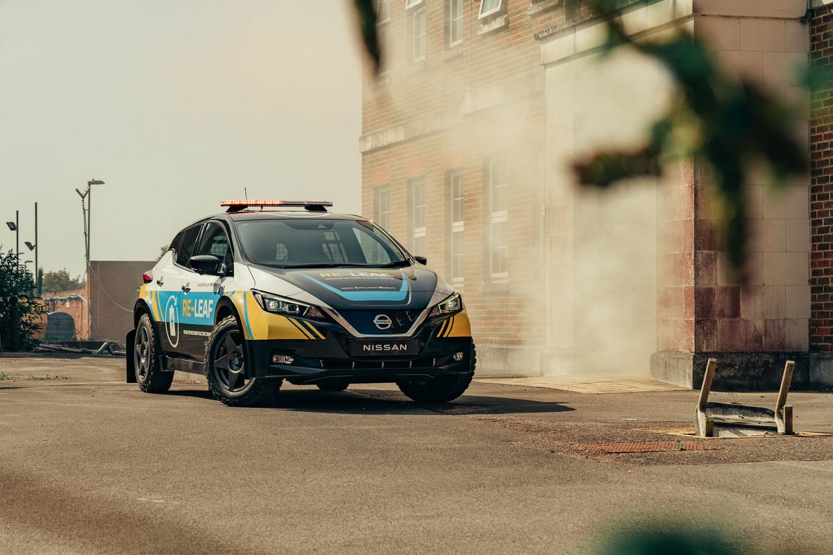 Nissan RE-LEAF; el prototipo de vehículo de emergencia 100% eléctrico