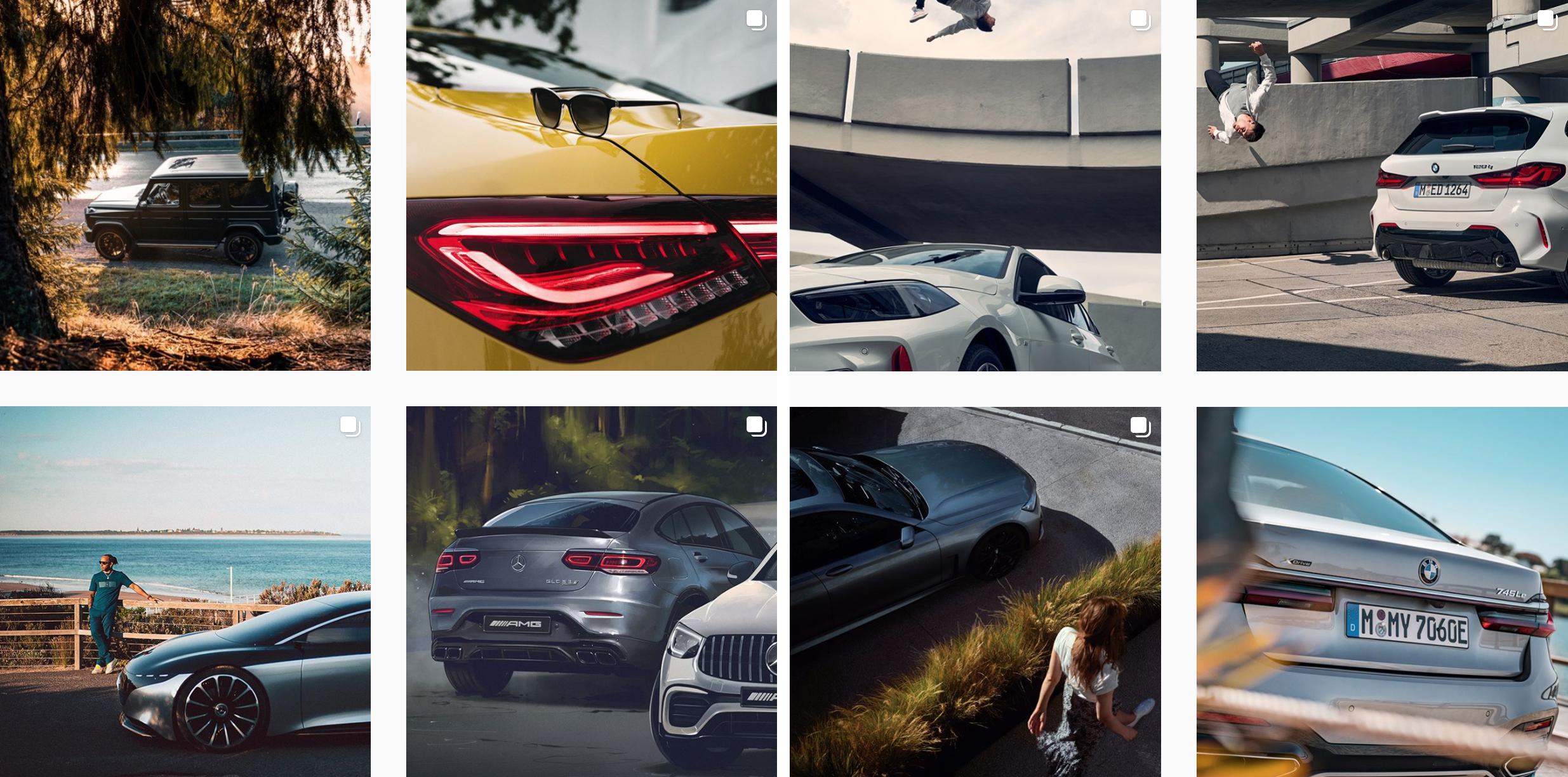 Instagram marcas de autos