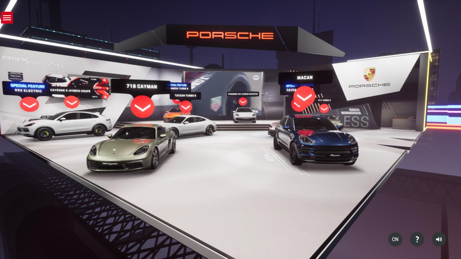 Porsche exhibe sus modelos de manera real y virtual en Beijing