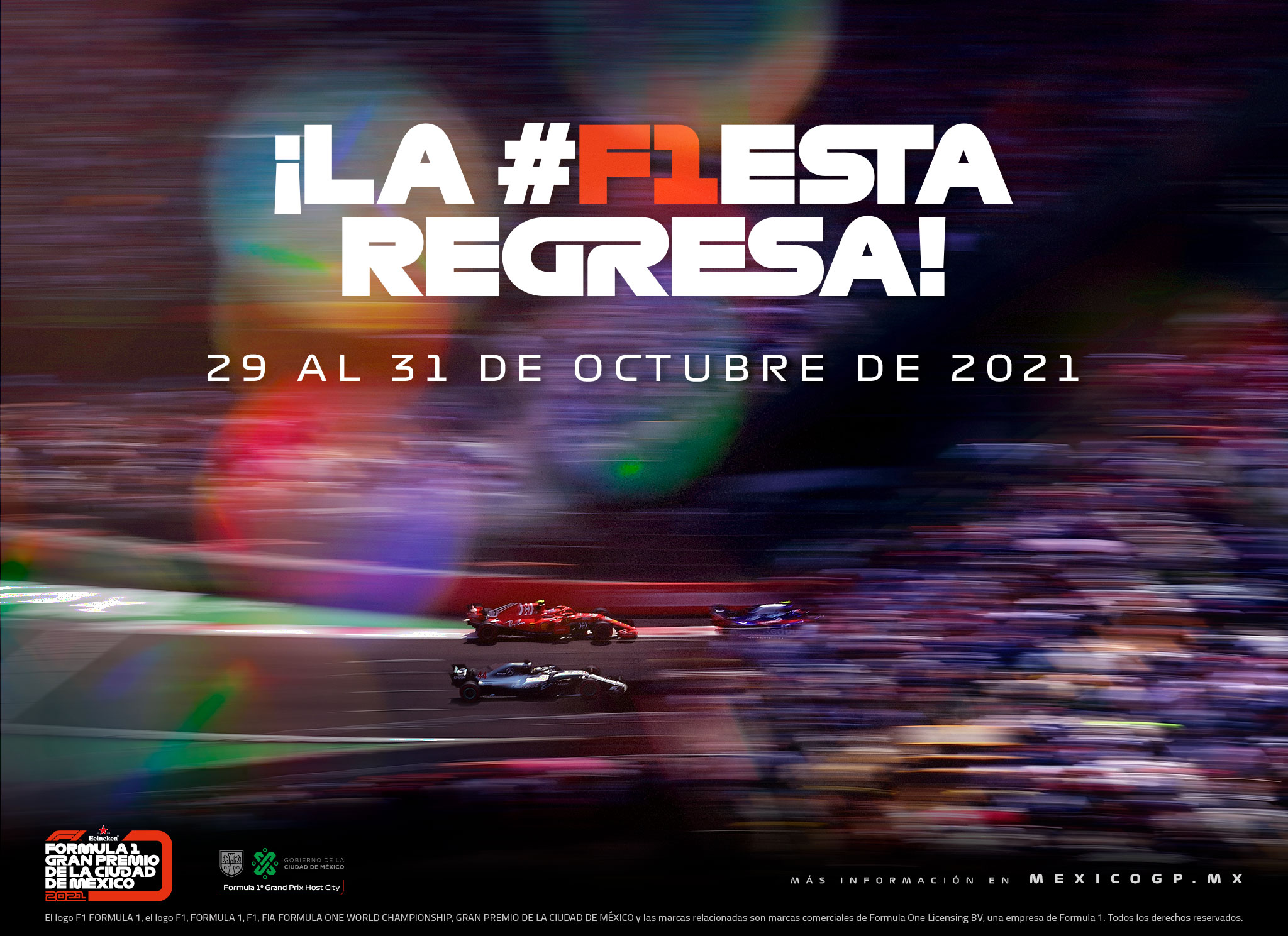 La Fórmula 1 regresa a México este 2021