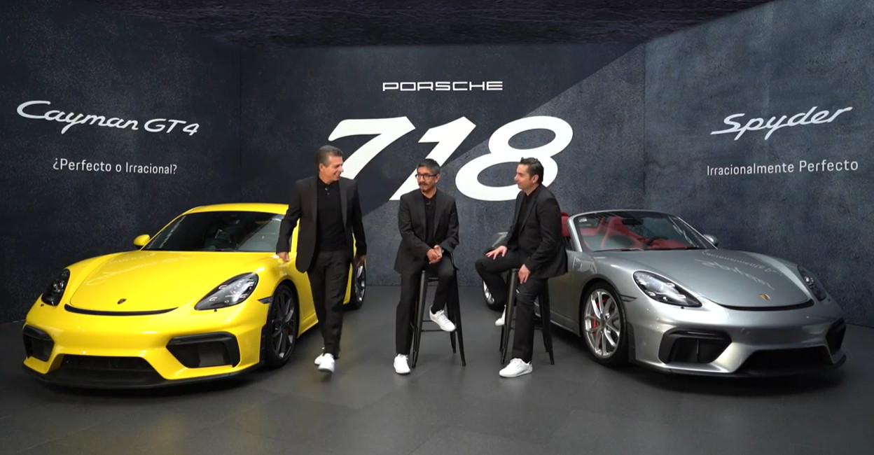 Porsche 718 Spyder y 718 Cayman GT4, deportividad racional
