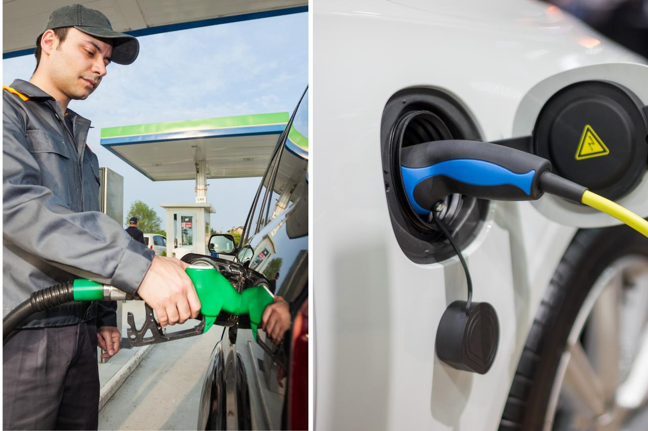 ¿Gasolina o electricidad, electricidad o gasolina?
