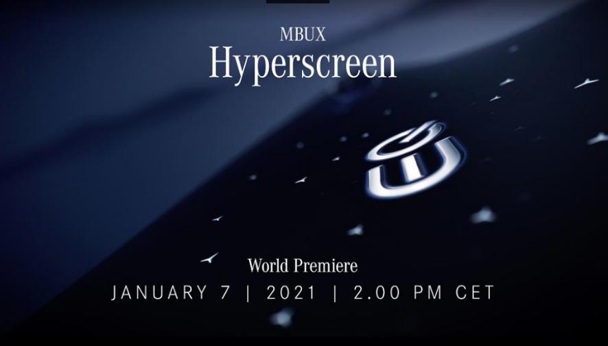Mercedes-Benz presentará MBUX Hyperscreen