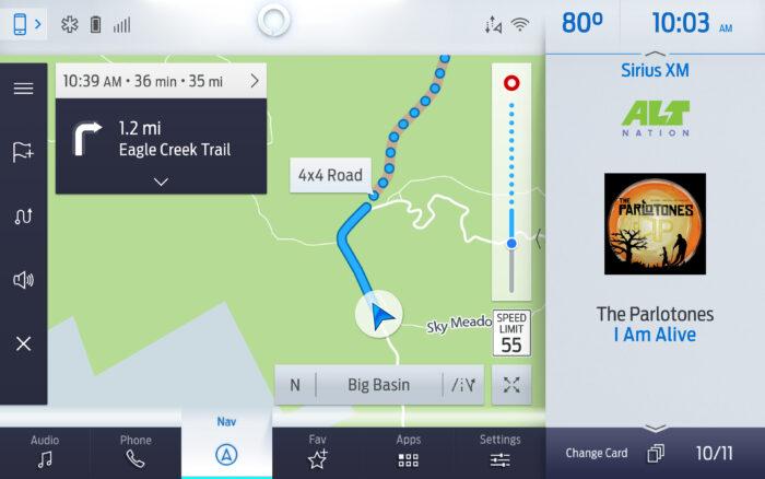 Tecnología todoterreno Ford navegación sin red