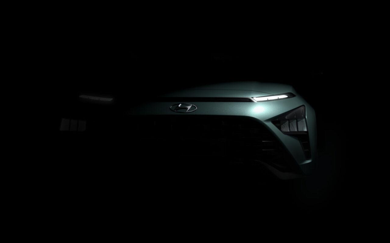 Bayon apenas se asoma como el nuevo SUV crossover subcompacto de Hyundai