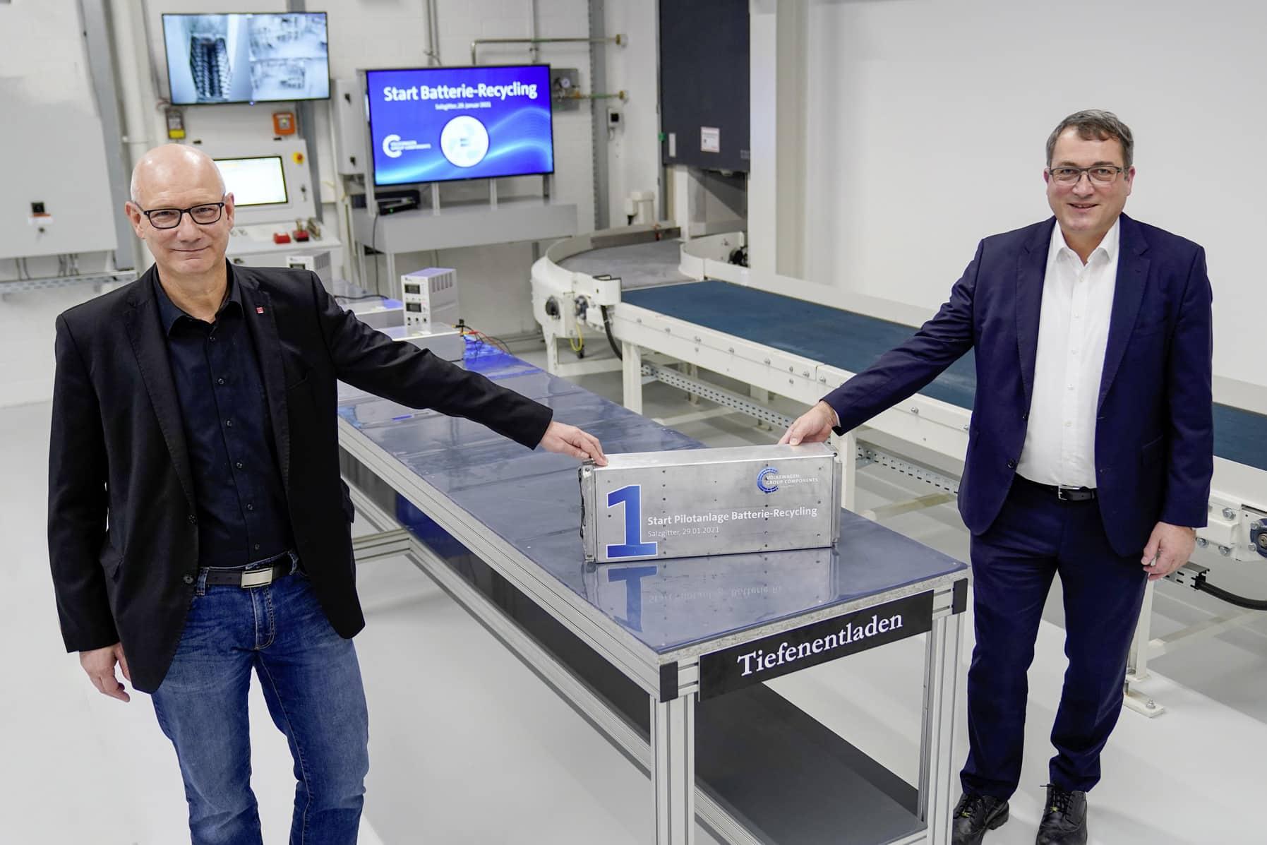 Volkswagen inicia reciclaje de baterías