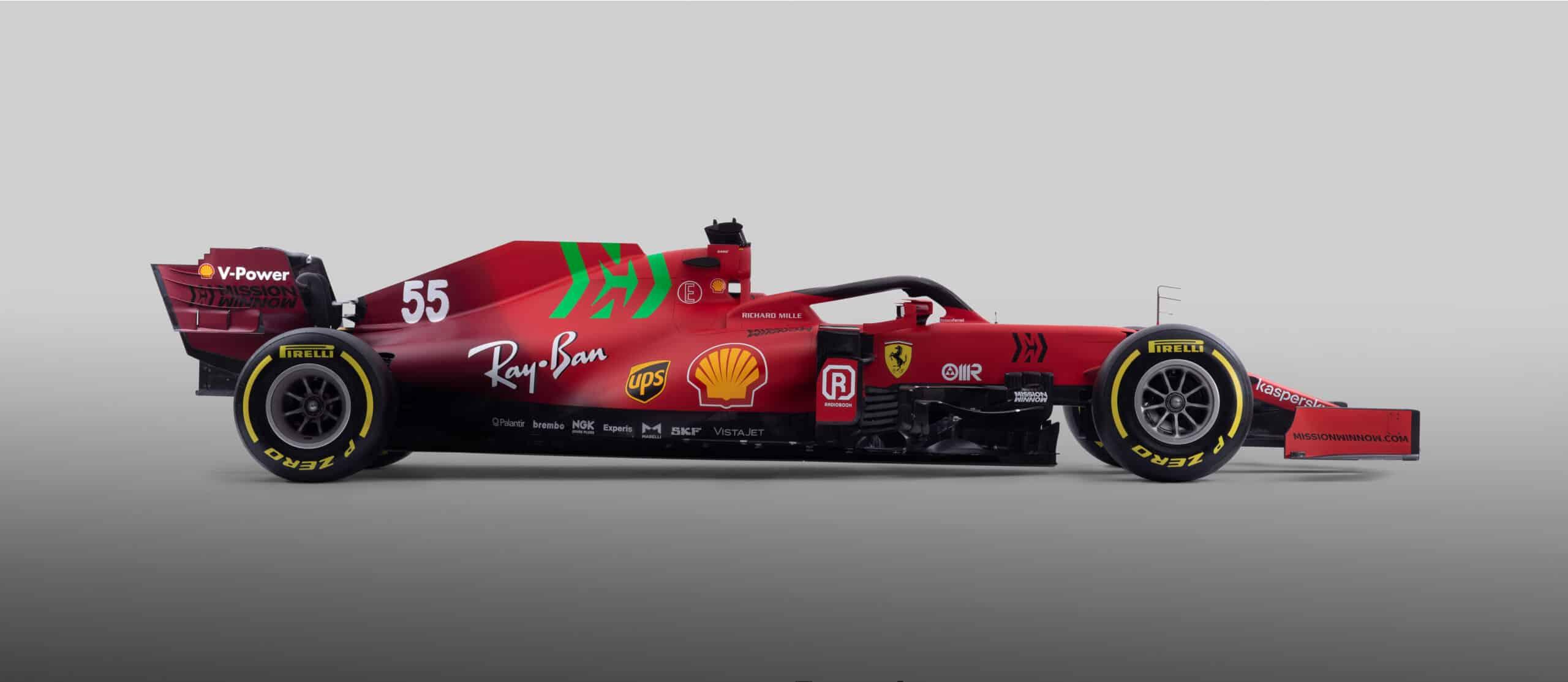 La Scuderia Ferrari presenta el SF21 con un toque de verde