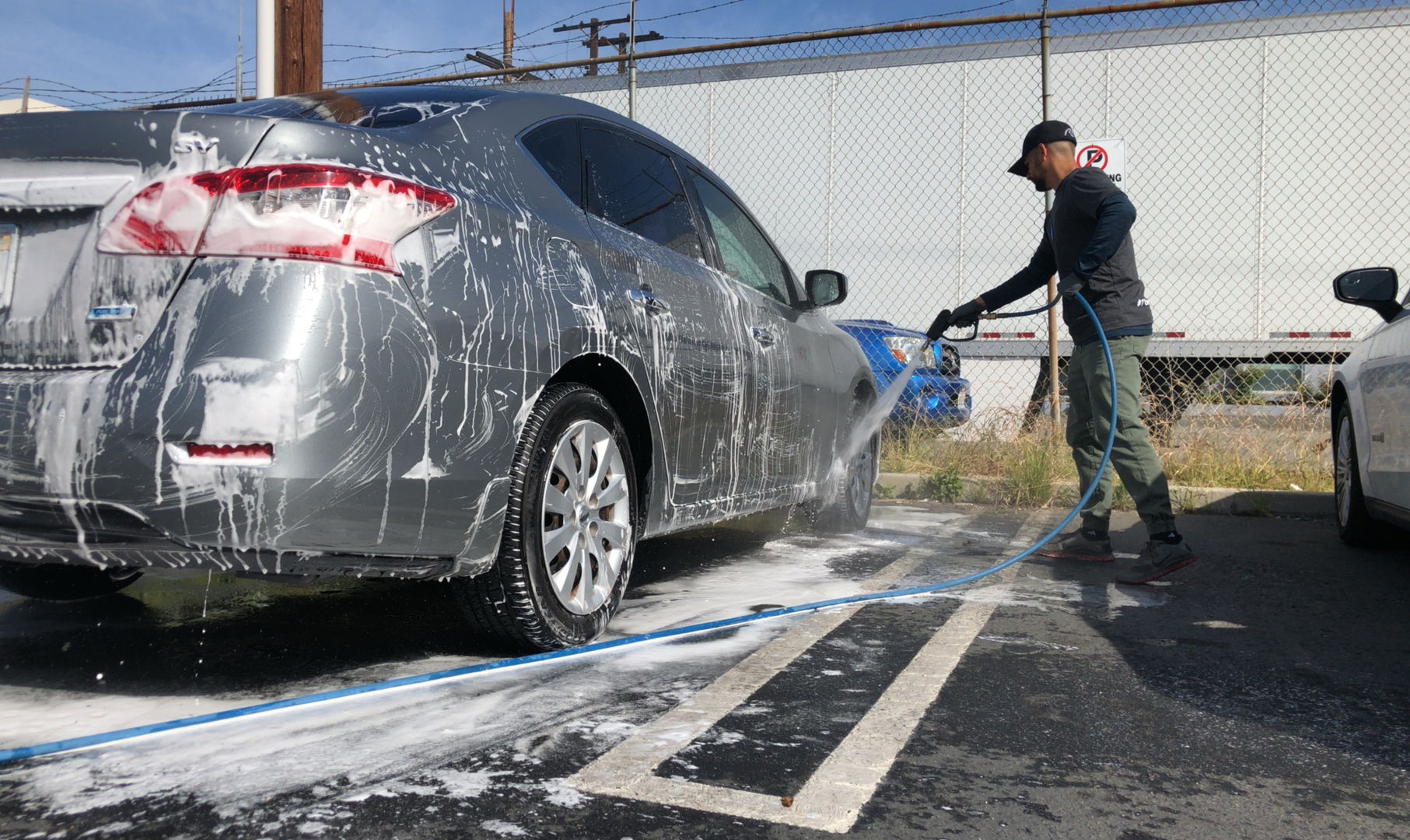lavar auto manguera