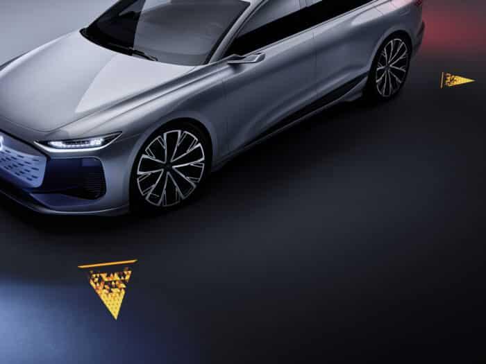 Audi A6 e-tron concept iluminación