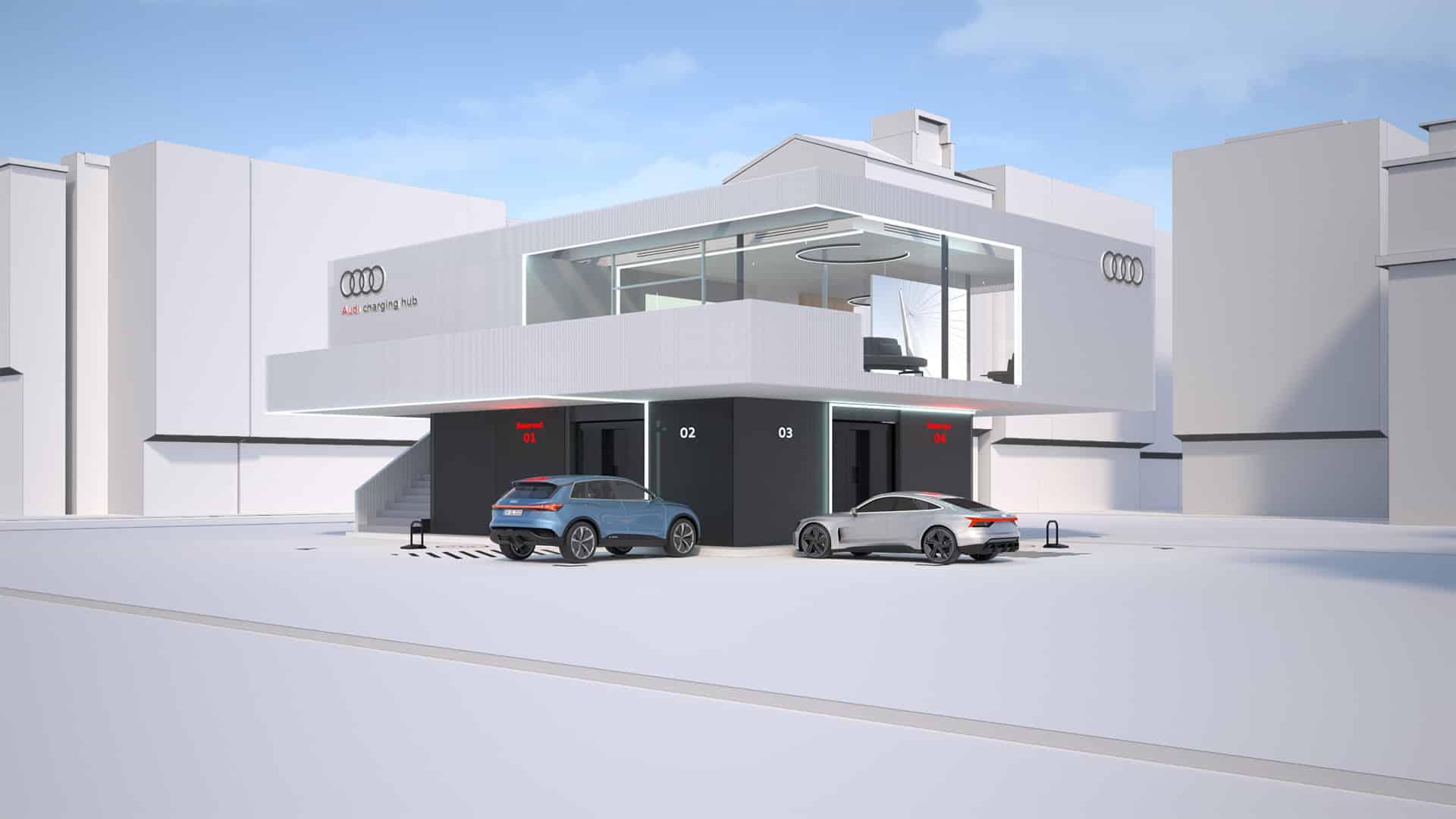 Audi prueba concepto de recarga rápida