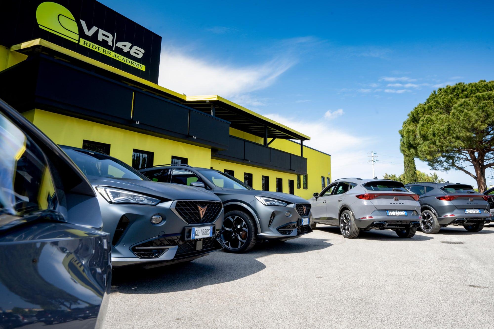 Cupra colabora con la academia de Valentino Rossi