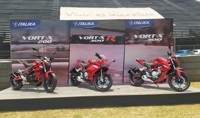 Italika Vort-X 200, Vort-X 300 y Vort-X 300R.