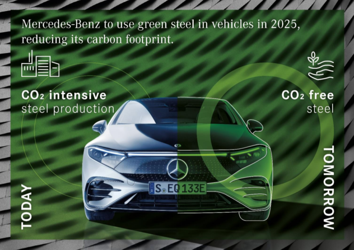 Mercedes-Benz acero verde recicados reciclaje