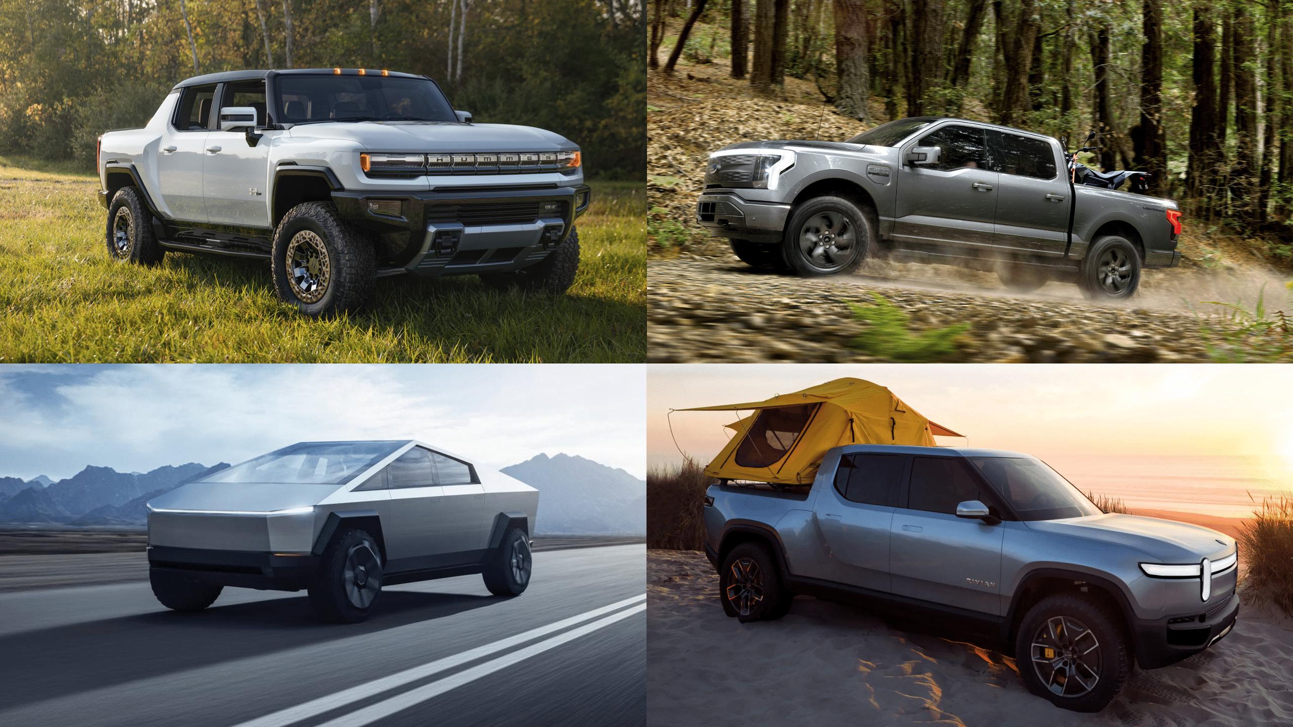 Comparativa de pickups eléctricas en 2021 y 2022