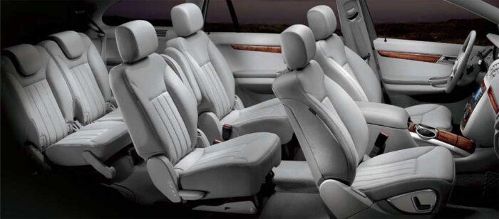 Asientos de Mercedes-Benz Clase R en tres filas