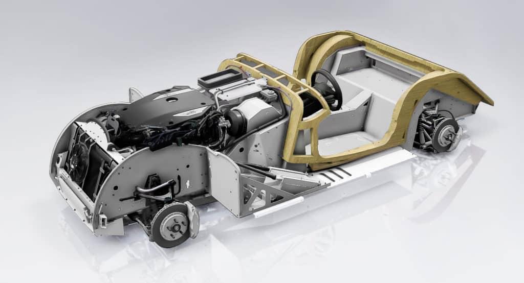 Posición del motor en un coche Morgan Motor