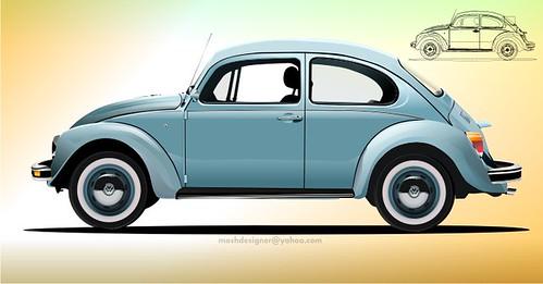 La posición del motor en un coche trasera: el vochito de Volkswagen