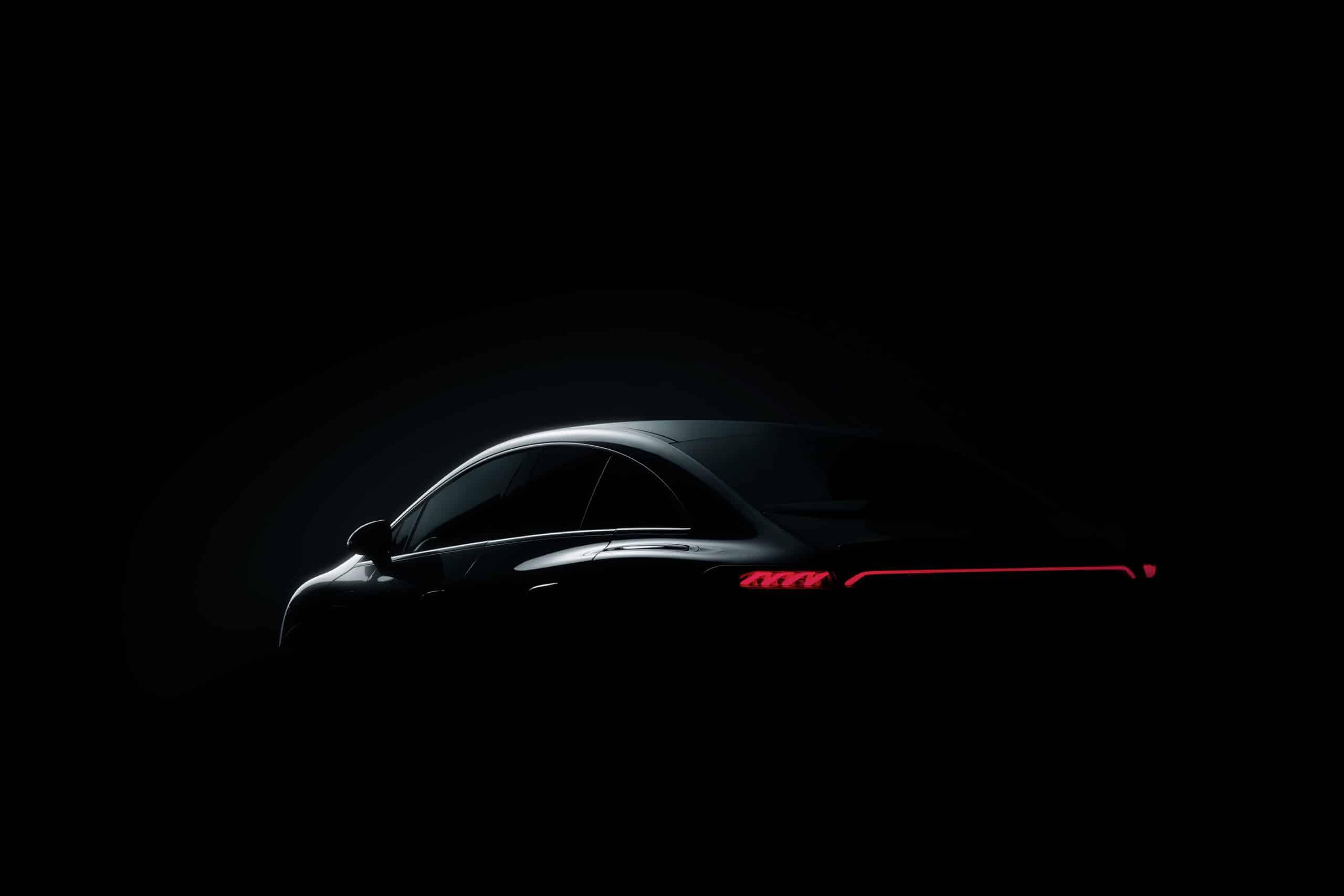 Teaser del Mercedes-Benz EQE que estará en IAA Mobility 2021