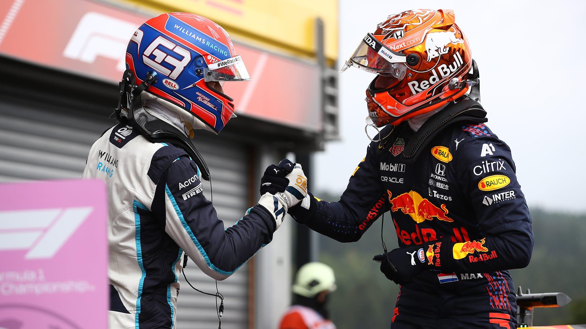 Verstappen consigue la pole en Bélgica, Russell partirá segundo