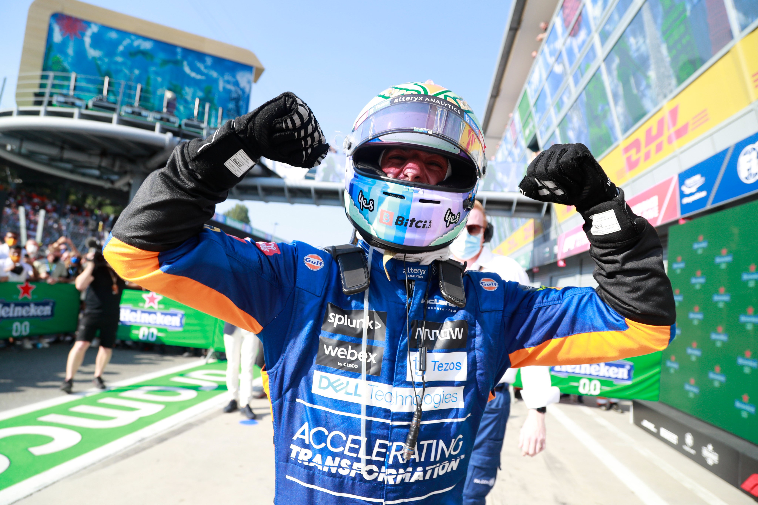 Daniel Ricciardo gana en Monza tras el desastre de Verstappen y Hamilton