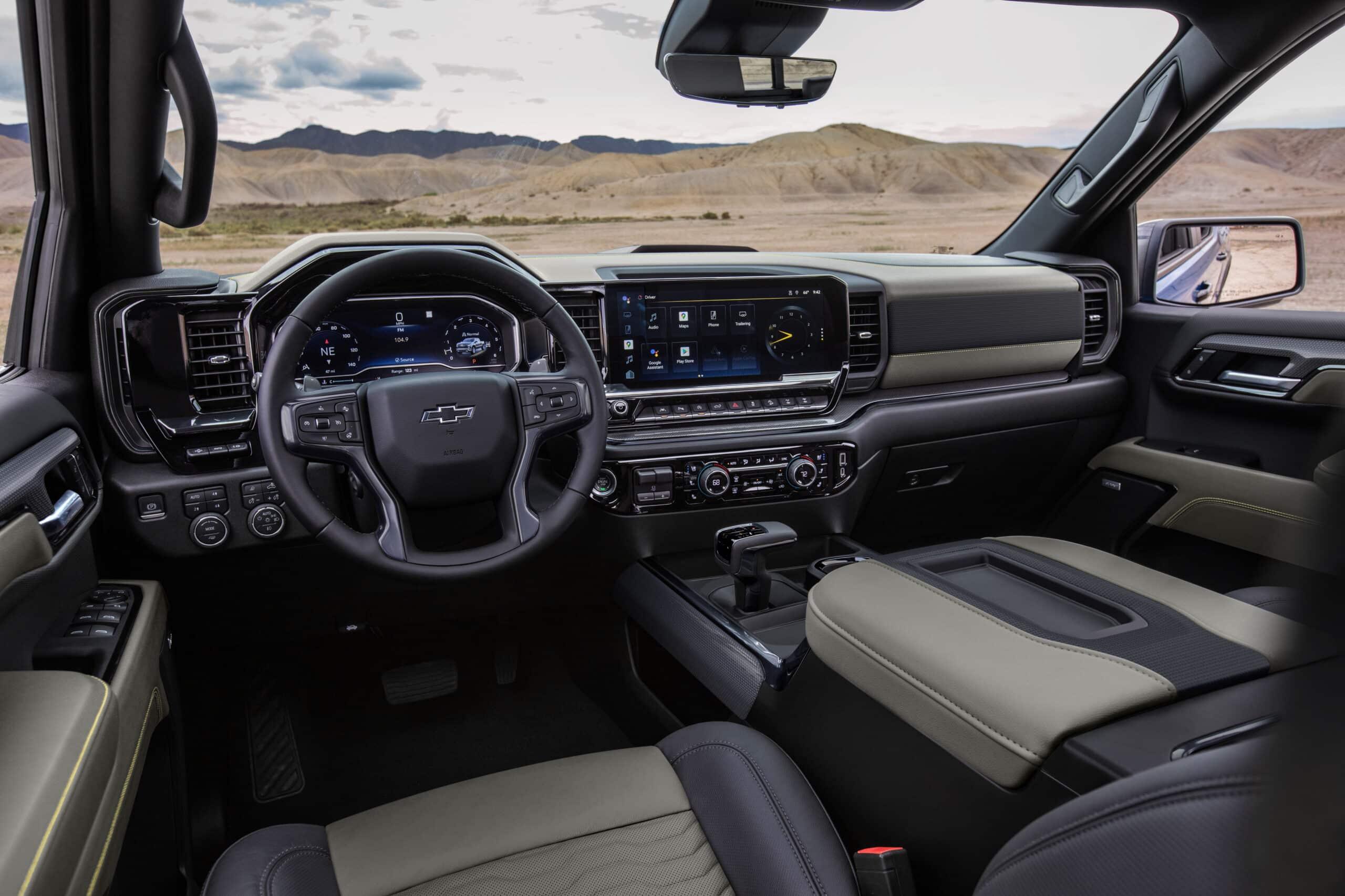 Interiores de Chevrolet Silverado 2022 ZR2