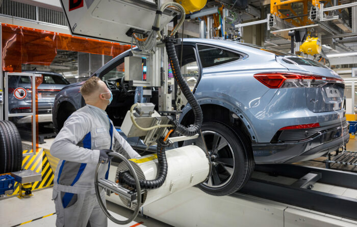 Audi Q4 e-tron producido en Zwickau
