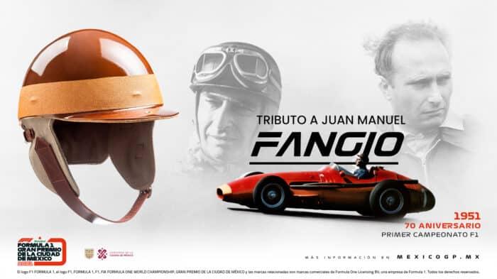 """El """"poleman"""" del México GP recibirá casco de Juan Manuel Fangio"""